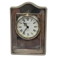 Clock with silver fittings - United Kingdom - 20th century