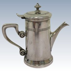 Durousseau & Raynaud - Art Deco silver plated coffee pot