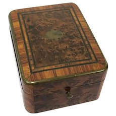 Napoleon III - pocketwatch box - Brass, Walnut - 19th century - France
