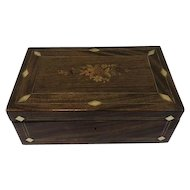Large rosewood wooden box with inlay - Franrkijk - Ca. 1900