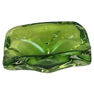 Val St. Lambert - glass ashtray - 20th century, Belgium