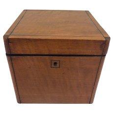 Large square tea box  - Wood - 19th century