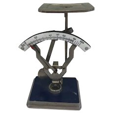 Letter scale with porcelain meter - Copper, Porcelain - First half of the 20th century