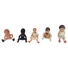Edi - Dolls for dollhouse - Germany - 5 pieces