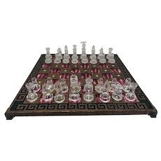 Chess game with pressed glass stones - Glass