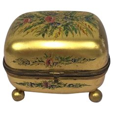 Gold plated trinket box - Gold plated - Approx. 1910 - France