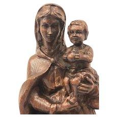 Madonna sculpture - Oak - Ca. 1900 - France