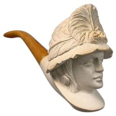 Pipe - Chic woman - Meerschaum - first half of the 20th century