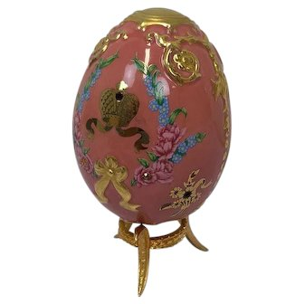Faberge Imperial Jeweled Egg by Franklin Mint - Coronation Crown - Approx. 1990