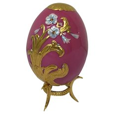 Faberge Imperial Jeweled Egg by Franklin Mint - Empress' Eternal Spring - Approx. 1990