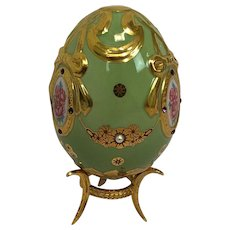Faberge Imperial Jeweled Egg by Franklin Mint - Princess' Legacy- Approx. 1990