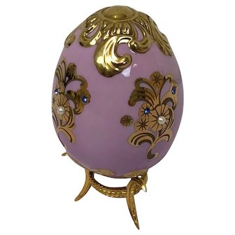 Faberge Imperial Jeweled Egg by Franklin Mint - Sovereign Majesty - Approx. 1990