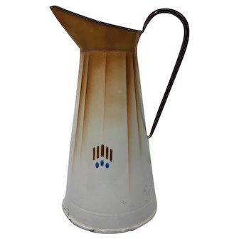 Enamelled water jug - France - Approx. 1960