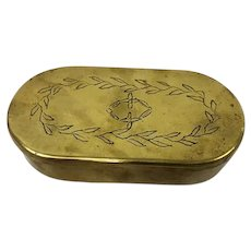 Tobacco box - Copper - Early 19th century