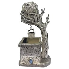 Table lighter with ashtray - Silver plated - Belgium - Late 20th century