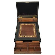 Tunbridge fold-out writing case with inlay - England - Approx. 1890
