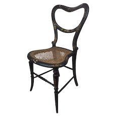 LALLAWAY Victorian bedroom chair inlaid with mother of pearl - England - Approx. 1880