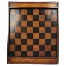 Antique checkerboard / chessboard with stones - France - Ca. 1860
