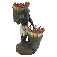 """Black Americana: """"basket carrier"""" wears matches - USA - Approx. 1985"""