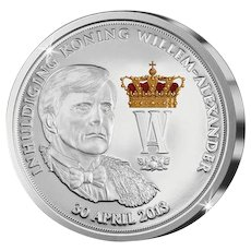 Rare commemorative coin: The Inauguration of King Willem-Alexander on April 30, 2013
