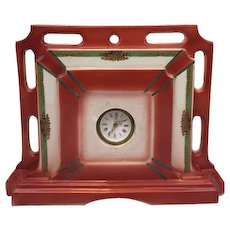 Ceramic Velsen Delft Clock - Approx. 1980