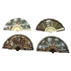 Vintage fans - 4 pieces - to varnish martin model - Approx. 1980/90