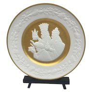 "Franklin Mint - ""We Three Kings"" Christmas Plate with 24 carat gold leaf - 1978"