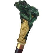 A classic walking stick crowned with a frog - 20th century