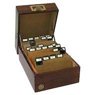 Archival case made of wood by Friedrich Soennecken - Germany - Ca. 1950