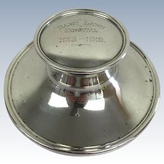 English antique sterling silver desk inkwell-A & J Zimmerman Limited, - Birmingham - Approx. 1915-1919