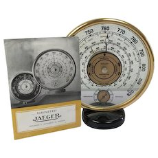 Jaeger desk barometer and thermometer - France - end of the 1930s / 40s