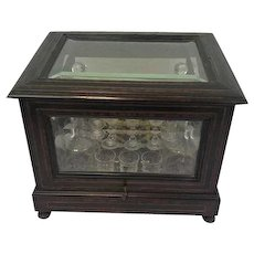 Liqueur cellar with glass top and side with original interior - France - Approx. 1860