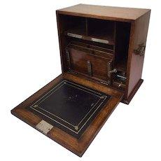 English portable writing lap desk - stationery cabinet - Engeland - Ca. 1920