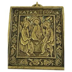 Bronze travel icon / plaque - Greece - Approx. 1900