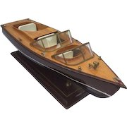 Scale model of a Riva boat - late 20th century