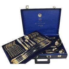 SBS Solingen - 69-piece complete cutlery in case - 24 carat gold plated