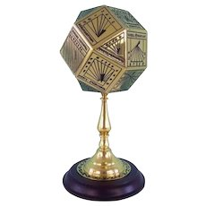 Franklin Mint - Multifaceted sundial to 15th century model, 24 carat gold plated - Ca. 1980