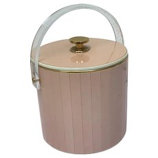 Turnwald ice bucket with 24 carat gold plated elements