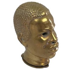 Brass vesta case of a dark man - Ca. 1840