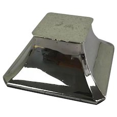 English antique sterling silver desk inkwell-square model - Approx. 1910
