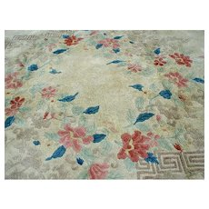 Superb Hand Knotted Deco Chinese Rug R7335