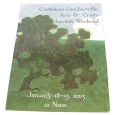 Craftsman-Lambertville Arts & Crafts Auction Weekend Catalog  c10