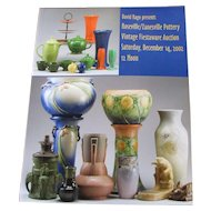 David Rago presents Roseville/Zanesville Pottery Vintage Fiestaware Auction Catalog c20