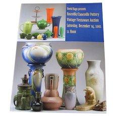 David Rago presents Roseville/Zanesville Pottery Vintage Fiestaware Auction Catalog c20