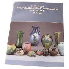 David Rago presents Roseville/Zanesville Pottery Auction Catalog c23