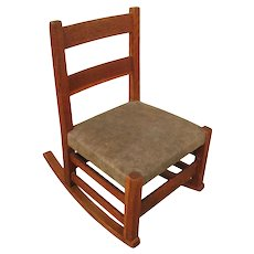 Antique Gustav Stickley Child's Rocking Chair   f1046