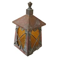 Antique Arts & Crafts Wall Lantern  f1200