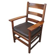Superb Antique L&jG Stickley Armchair  f133