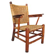 "SUPERB ""Old Hickory"" Arm Chair  f372"