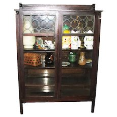 Antique Arts & Crafts China Cabinet  f4108